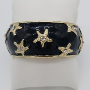 Tommy Bahama Starfish cuff bangle bracelet enamel